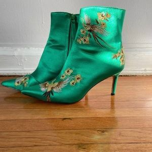 Zara Green Ankle Boots